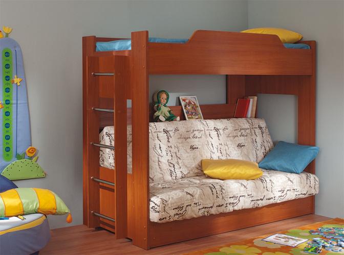 Двухъярусная кровать с диван кроватью